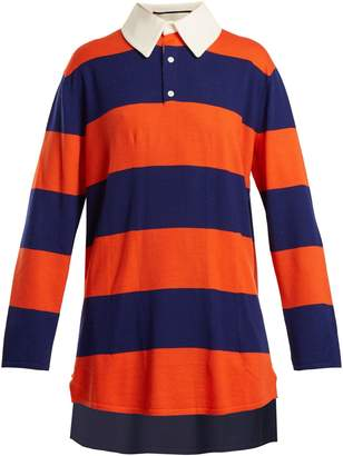 Gucci Oversized striped wool polo top