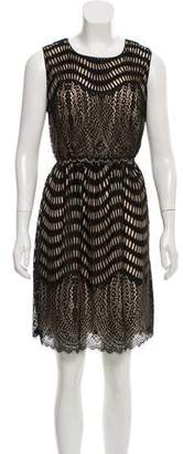 Anna Sui Eyelet Sleeveless Dress