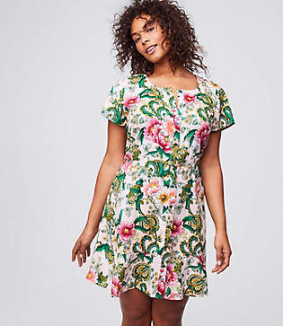LOFT Plus Camellia Garden Shirtdress