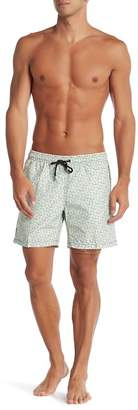 Mr.Swim Mr. Swim Cross Hatch Print Swim Trunks
