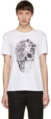 Alexander McQueen White Patchwork Skull T-Shirt