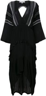 IRO asymmetric frill dress