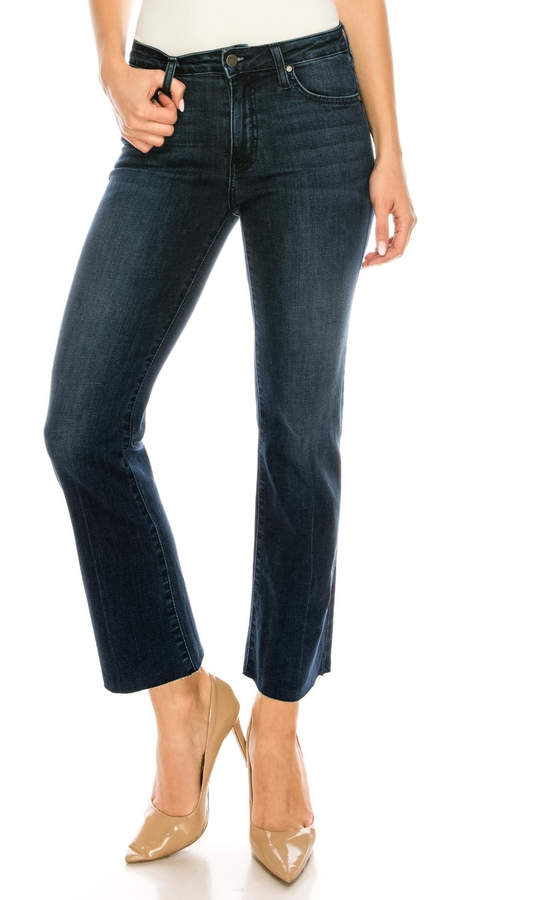 just black Bootcut Cropped Jeans