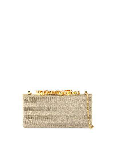 Jimmy Choo Jimmy Choo Celeste Small Frame Clutch Bag, Champagne