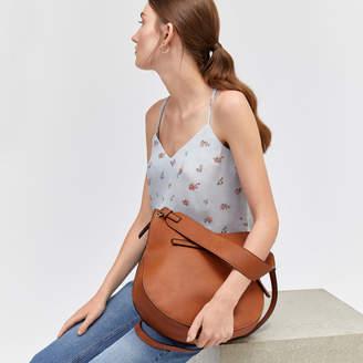 Warehouse Wide Strap Zip Shoulder Bag