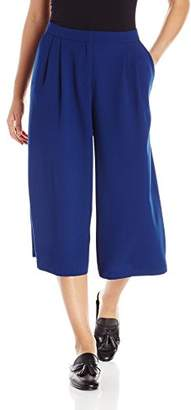 Paris Sunday Women's Pleated Culotte Crepe Pant