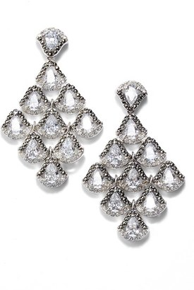 Women's Judith Jack Semiprecious Stone Chandelier Earrings $225 thestylecure.com