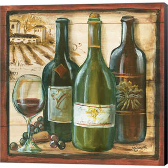 Metaverse Wooden Wine Square II by Bob Coonts Canvas Art
