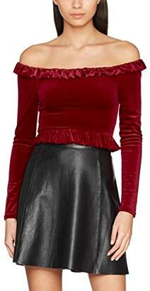 New Look Women's 5602762 Long Sleeve Top, (Bright Red)