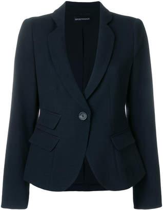 Emporio Armani slim cropped blazer