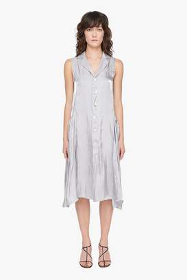 Genuine People Silky Loose Button Down Dress