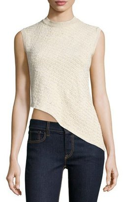 Ralph Lauren Collection Sleeveless Asymmetric-Hem Top, Blonde $990 thestylecure.com