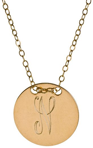 Miriam Merenfeld Jewelry Personalized Circle Tag Necklace
