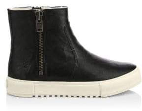 Frye Gia Shearling-Lined Leather High-Top Boots
