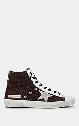 Golden Goose Women's Francy Mixed-Knit Leather Sneakers - Red