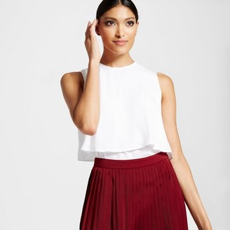 Mossimo Women's Woven Two Layer Tank - Mossimo $19.99 thestylecure.com