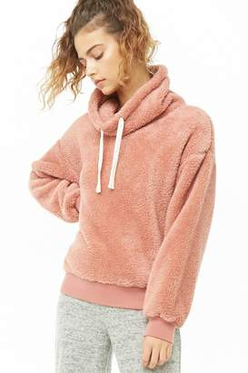 Forever 21 Faux Shearling Cowl Neck Pullover