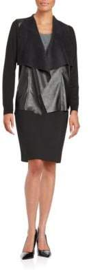 MICHAEL Michael Kors Leather Drape Cardigan