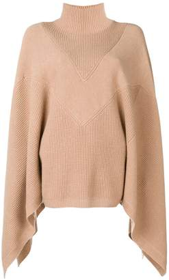 Givenchy cape turtleneck jumper
