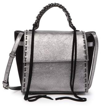 Sondra Roberts Top Handle Flap Leather Shoulder Bag