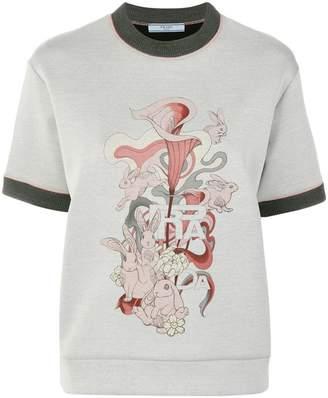 Prada rabbit logo print T-shirt