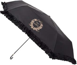 Maison de Fleur (メゾン ド フルール) - Maison de FLEUR 《晴雨兼用》ヒートカットフリル折りたたみ傘