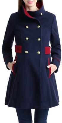 Kimi and Kai Nom 'Pan' Military Maternity Pea Coat