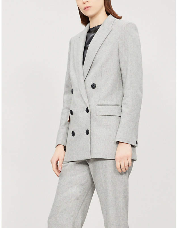 Ellie double-breasted wool-blend jacket