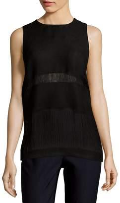MSGM Women's Paneled Linen Tank Top