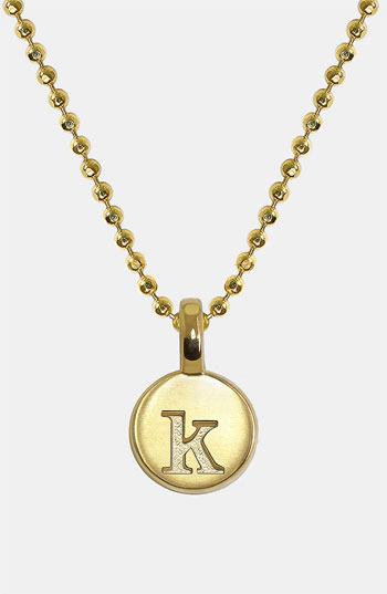 Alex Woo 'Mini Initial' 14k Gold Pendant Necklace
