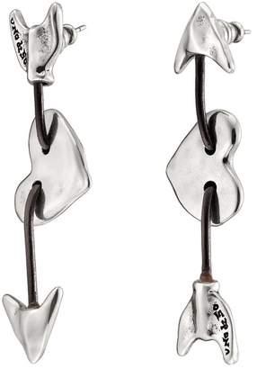 Uno de 50 Iman & Bowine Arrow & Heart Stud Earrings