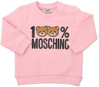 Moschino Toy Logo Printed Cotton Sweatshirt