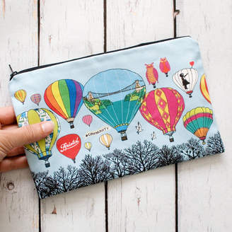 Made by Ilze Bristol Balloons Lined Cotton Cosmetics Or Pencil Bag