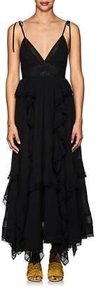 Ulla Johnson Women's Bardot Plissé Cotton Maxi Dress