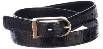 Tom Ford Crocodile Dress Belt