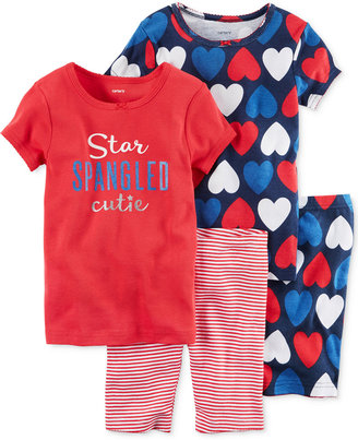 Carter's 4-Pc. Star Spangled Cutie Cotton Pajama Set, Toddler Girls (2T-5T) $34 thestylecure.com