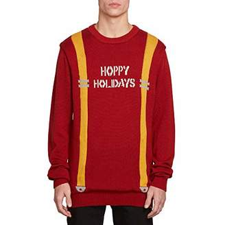 Volcom Men's Suspenders Ugly Christmas Sweater