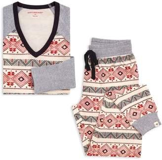 Burt's Bees Aspen Cabin Organic Womens Holiday Matching Family Pajamas