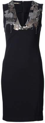 Roberto Cavalli fitted embellished dress