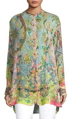 Etro Silk Button-Front Top