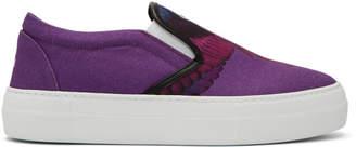 Marcelo Burlon County of Milan Purple Wings Sneakers