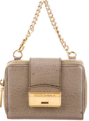 Dolce & Gabbana Chain-Embellished Compact Wallet $110 thestylecure.com