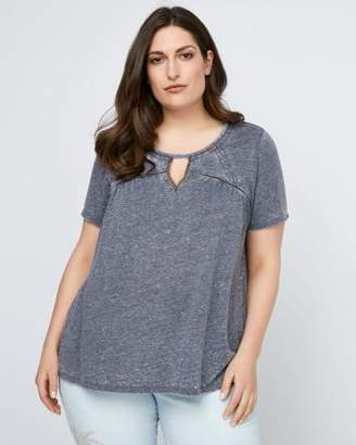 Penningtons Knit Top with Front Keyhole - d/C JEANS