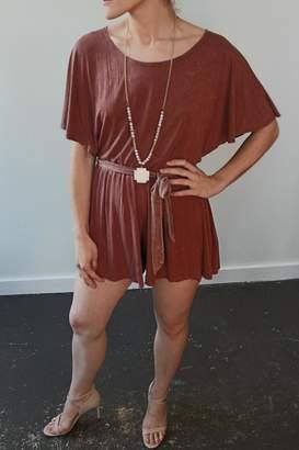 Anama Knit Romper Cinnamon