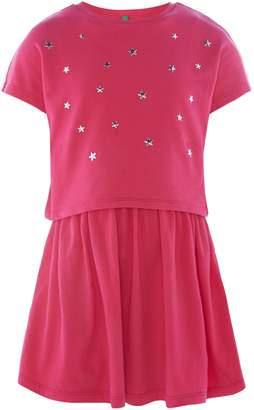 Benetton Girls Layered Jersey Dress