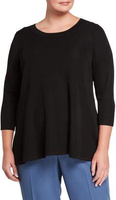 Anne Klein Plus Size High-Low Knit Top