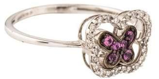 Ring 18K Diamond & Sapphire Butterfly Spinner