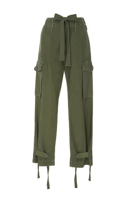Citizens of Humanity Green High-Rise Cargo Pants $300 thestylecure.com