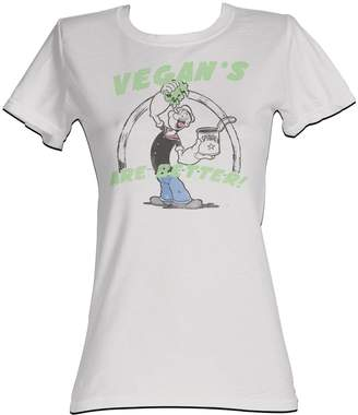 Popeye - Vegans Are Better Womens T-Shirt In