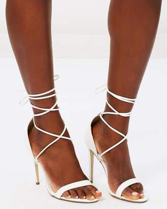 Missguided Lace-Up Barely There Heels